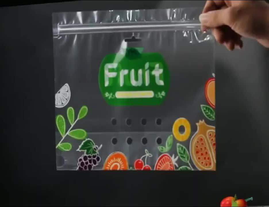 Transparent Top Grade Fresh Fruit Preservative General Grape Cherry Red Lift Sealed Packaging Bag