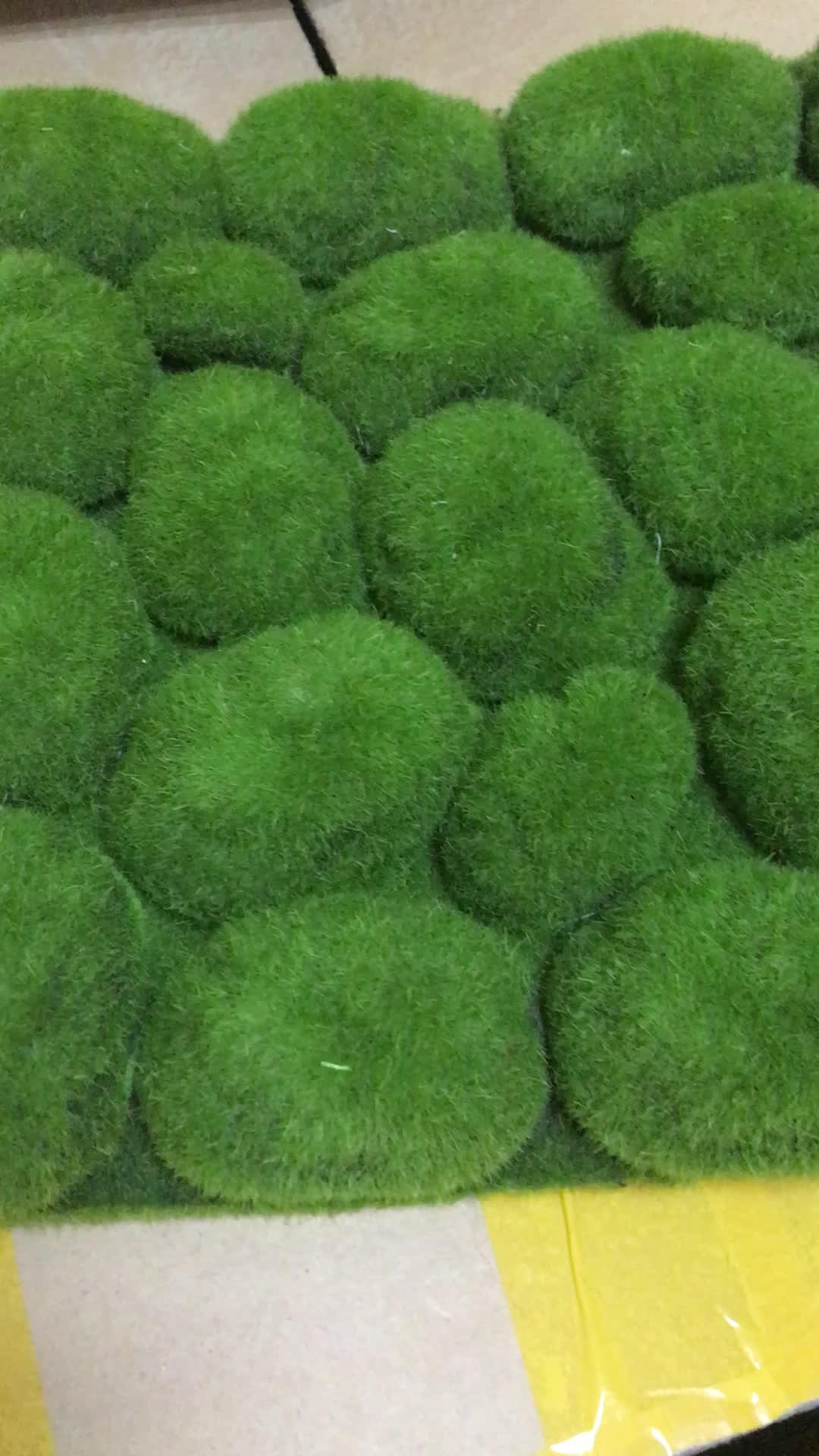Hoogwaardige fabriek groothandel kunstmatige mos mat muur voor indoor decoratie