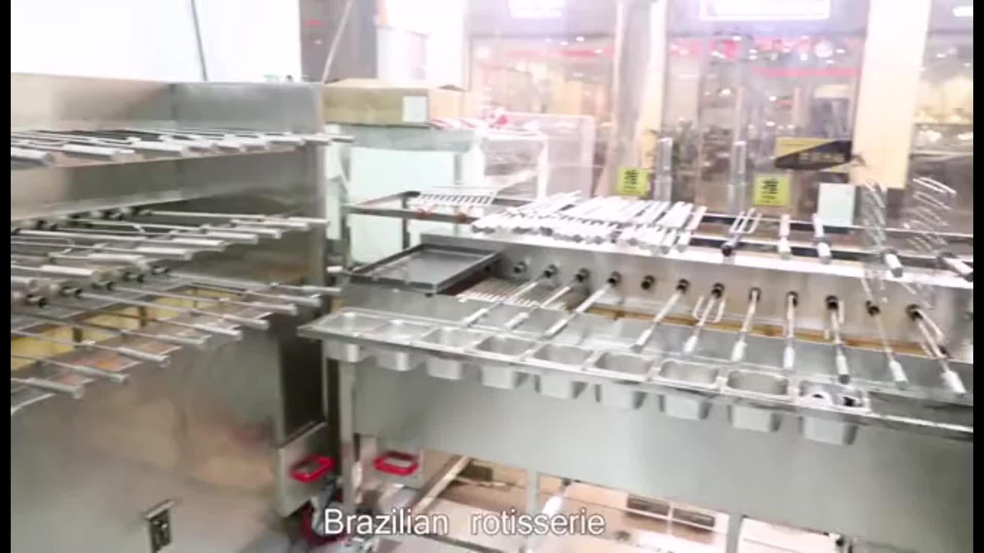 Diskon Brasil Terbakar Barbekyu BBQ Mesin Rotisserie Grill