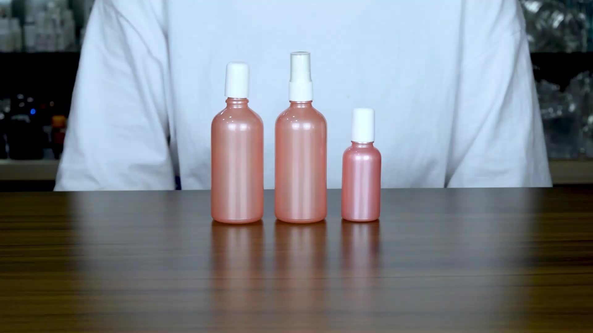 cosmetic packaging new product sweet matt pink fancy essential oil glass bottle roll on essential oil bottle wholesale