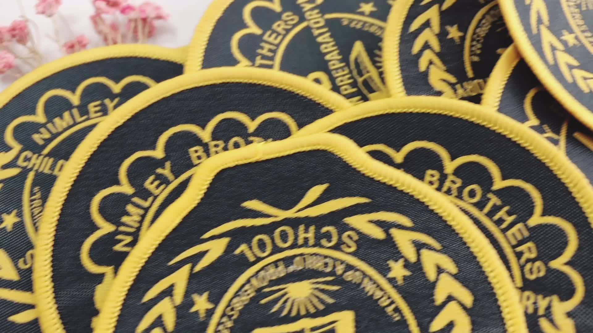 2019 New Clothing Patch Wholesale Cheap Custom Self-adhesive Cheap Embroidery Patch