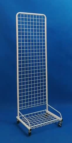 single sided metal wire grid universal products exposition floor display rack from factory directly