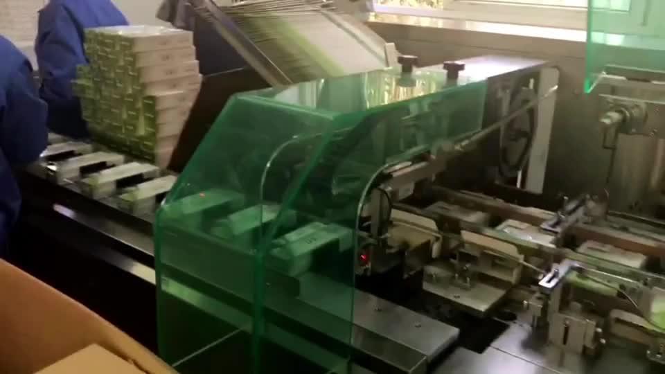 Prestaties Kwalificatie Oogdruppels Biscuit Cartoning Verpakking Machines Fabrikanten