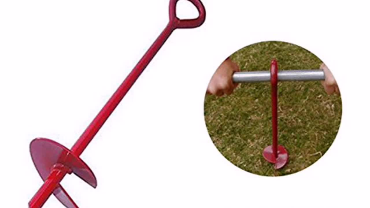 Heavy duty ground anchor, earth anchor