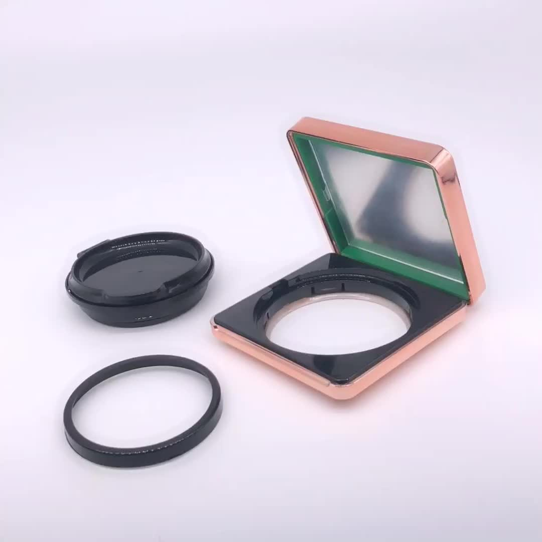 15g  Free Logo Design of Fashion Empty Square Air Cushion Box for bb cream Magnetic BB Cushion Case with puff and sponge.