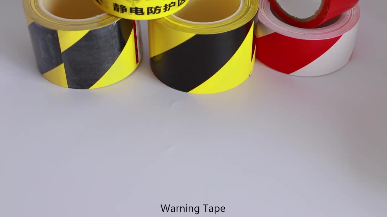 Wholesale custom pvc police safety underground detectable barricade barrier floor hazard caution security warning ribbon tape