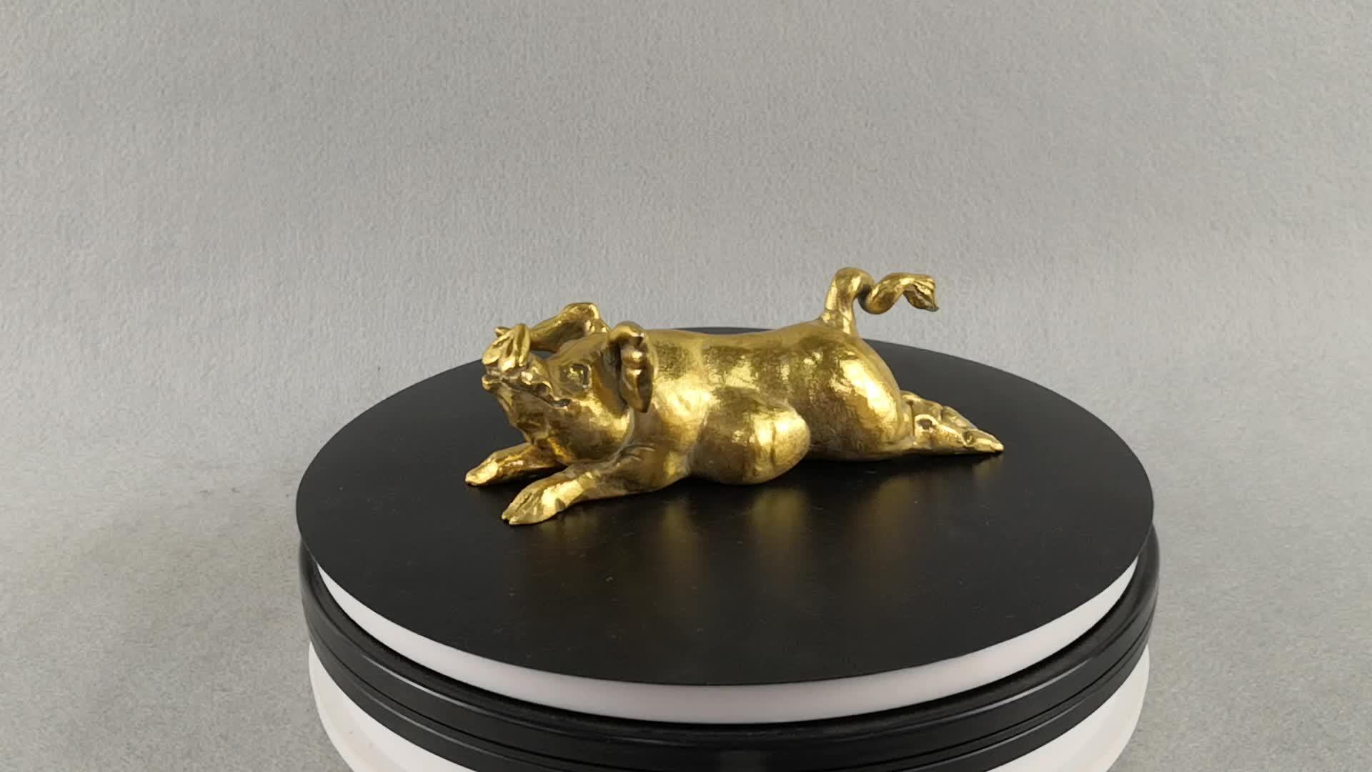 Ao ar livre decoração figurine do anime produto mais vendido mini resina artesanato ornamentos de jardim porco
