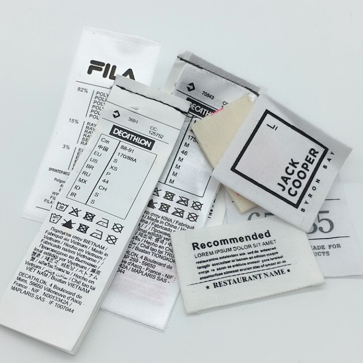 Cheap Custom Brand Name Logo Wash Care Label For Clothing