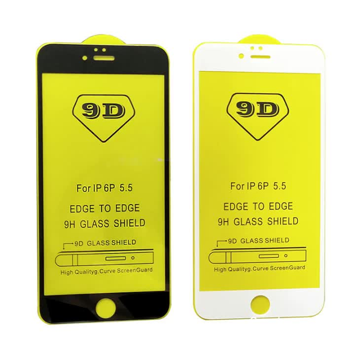 Mobile Phone Sreen Protector 9H High clear Anti-scratch 0.33mm 9D Tempered Glass For Various Model