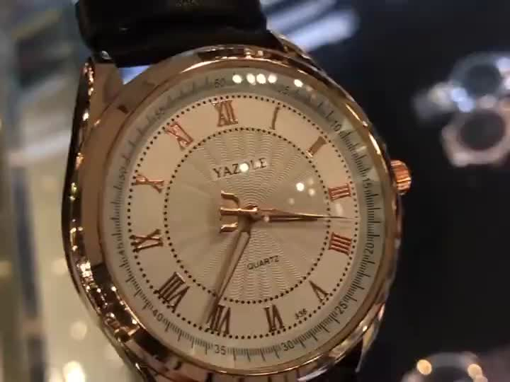YAZOLE Z 336 High Quality fashion japan movt quartz stainless steel Luxury Watches For Men
