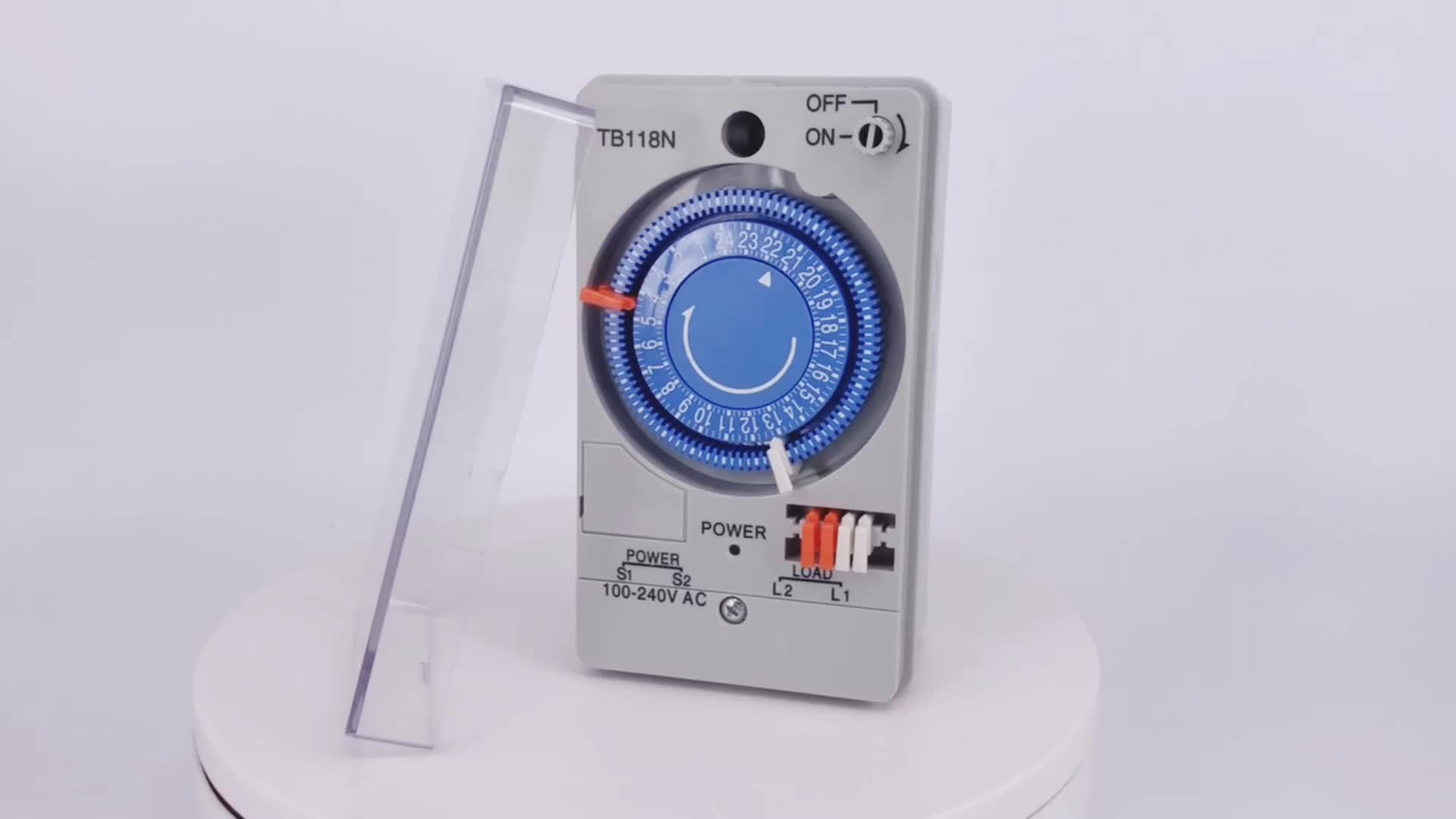 Hot model TB-118N time switch with battery programmable industrial timer switch AC 110V/230V
