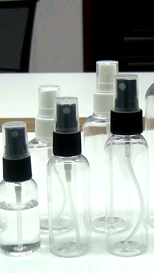 Empty 30ml 60ml 80ml 100ml 120ml 150ml  hand sanitizer Refillable plastic alcohol Fine Mist Spray Bottle