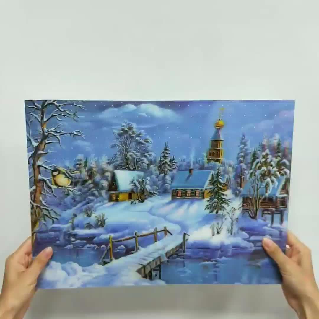 Noel 3D ev dekorasyon için resim merceksi 3d duvar resmi Manzara resim