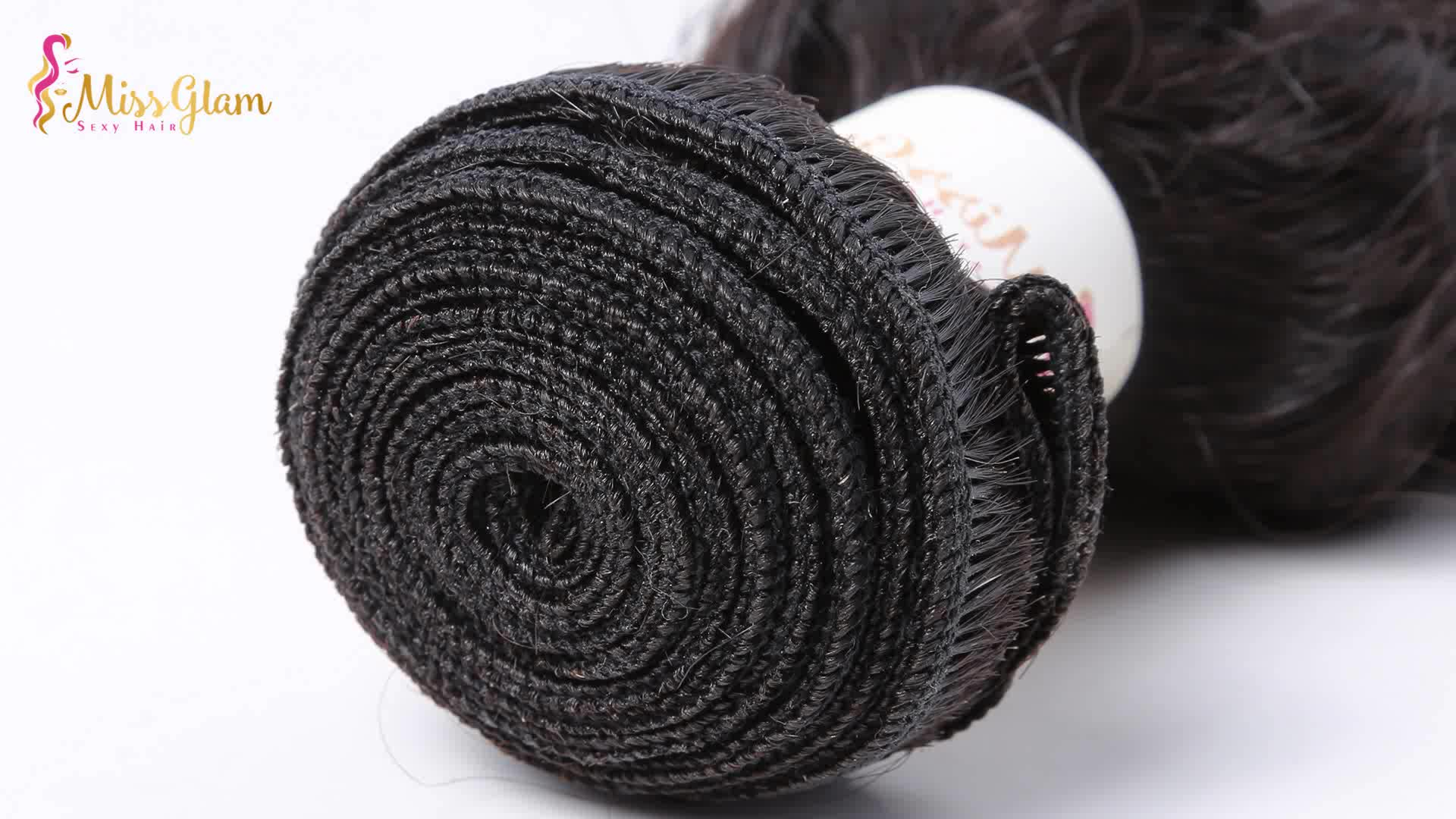 Stella hair wholesaler brazilian cuticle aligned virgin human hair, natural wave human hair weave