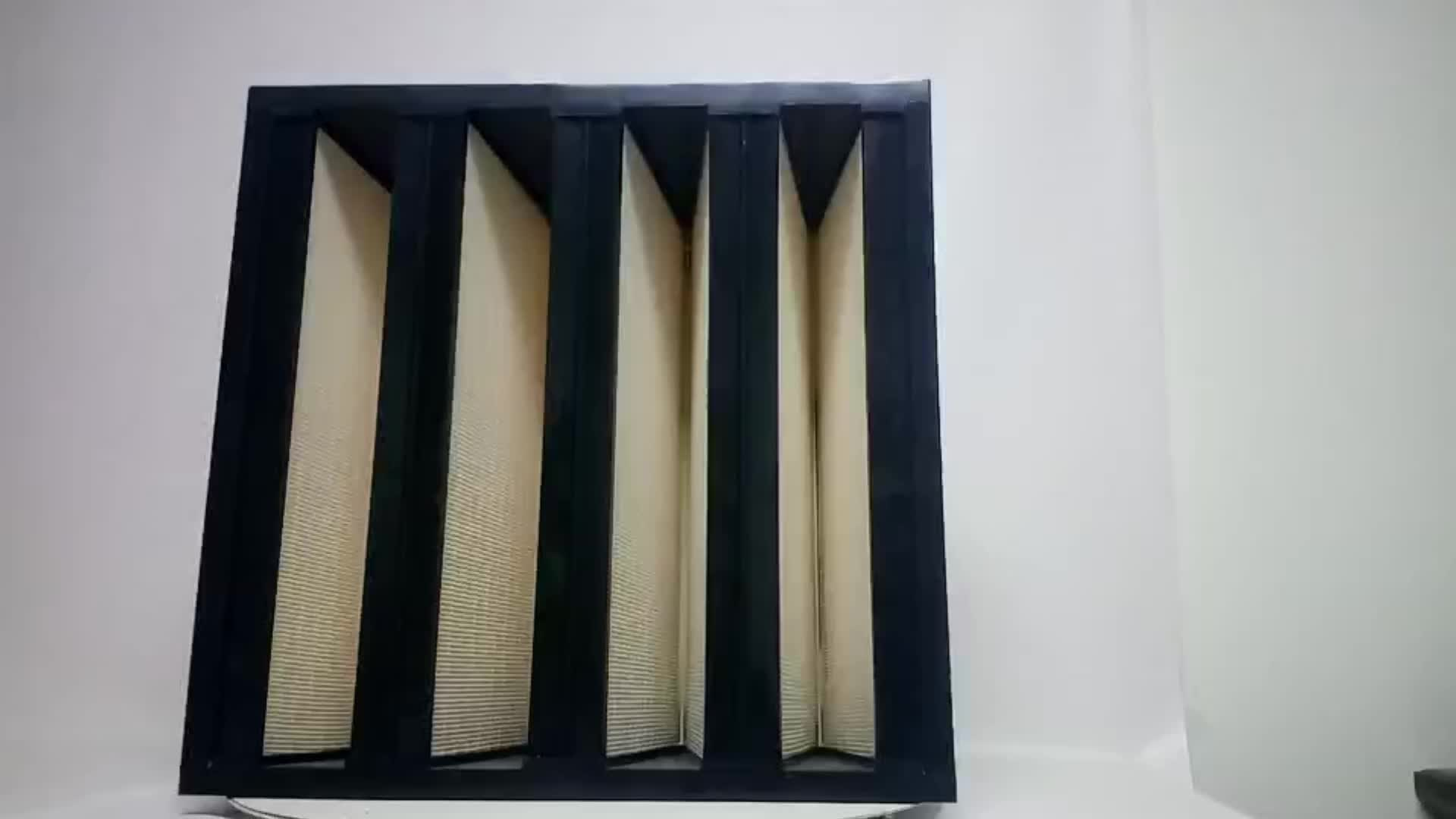 High Quality V-Shape Sub-High Efficiency Combined Hepa Air Filter With ABS frame