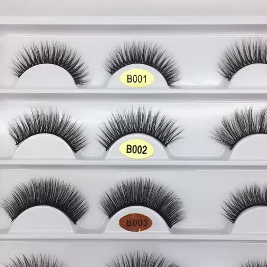 Best price 0.07 wholesale lsale private label 3d faux mink strip eyelashes silk lashes