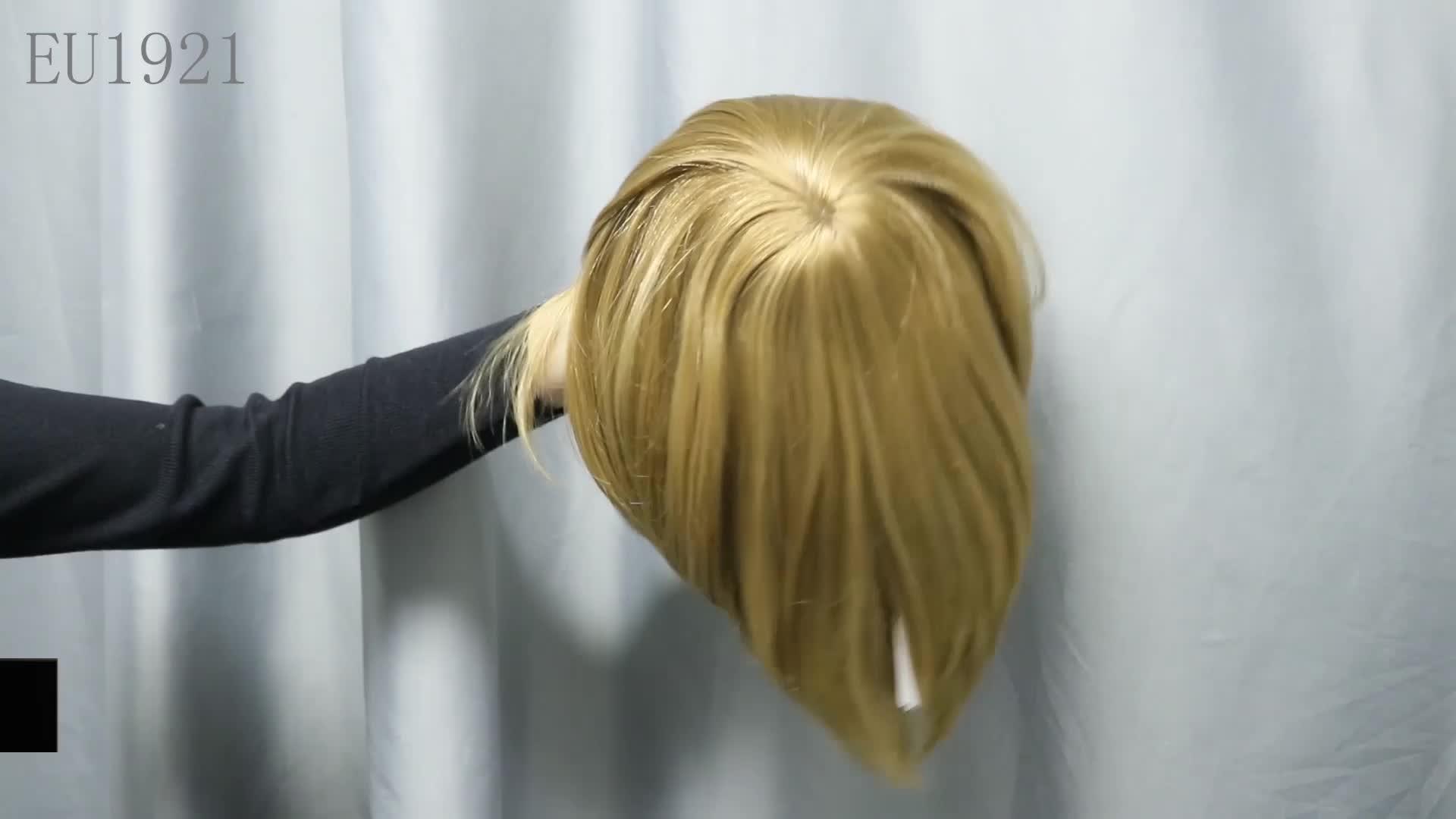 Enorme magazzino di toupee dei capelli umani degli uomini mens grigio dei capelli