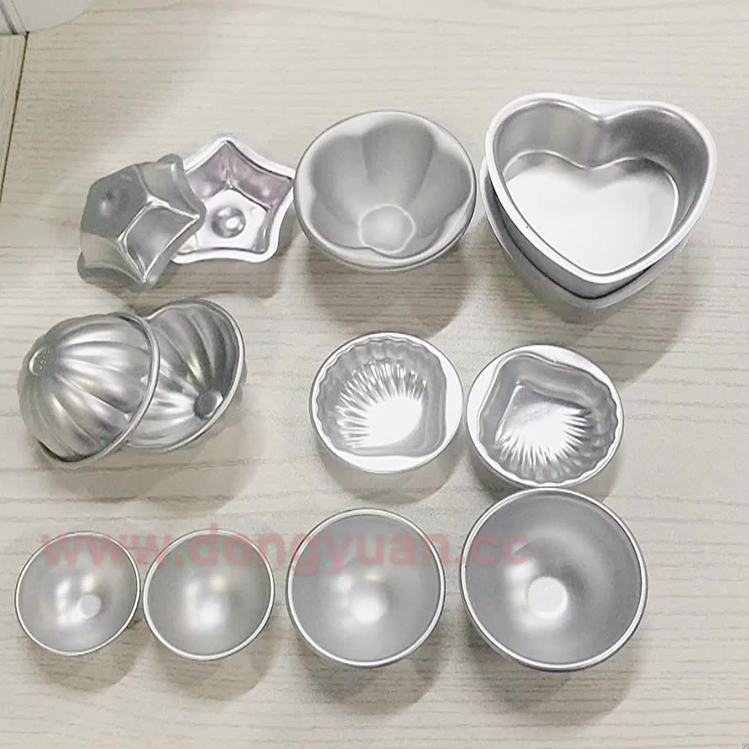 Love Type Small Cake Mold Solid Bottom Love Model Heart Aluminum Alloy Bath Bomb Mold