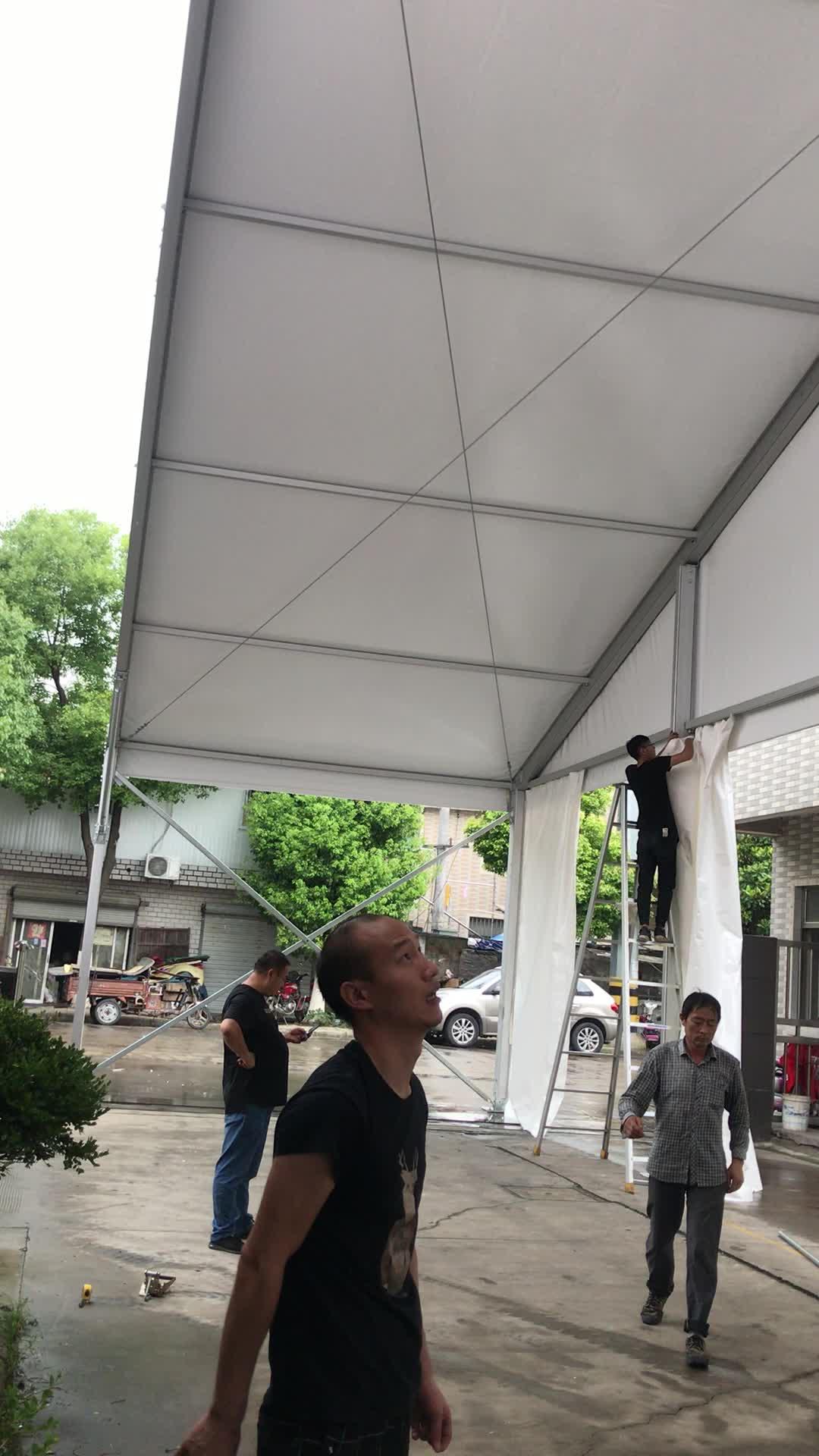 סין יצרן זול מחיר 20x50 m PVC כיסוי קבוע מחסן אחסון אוהל