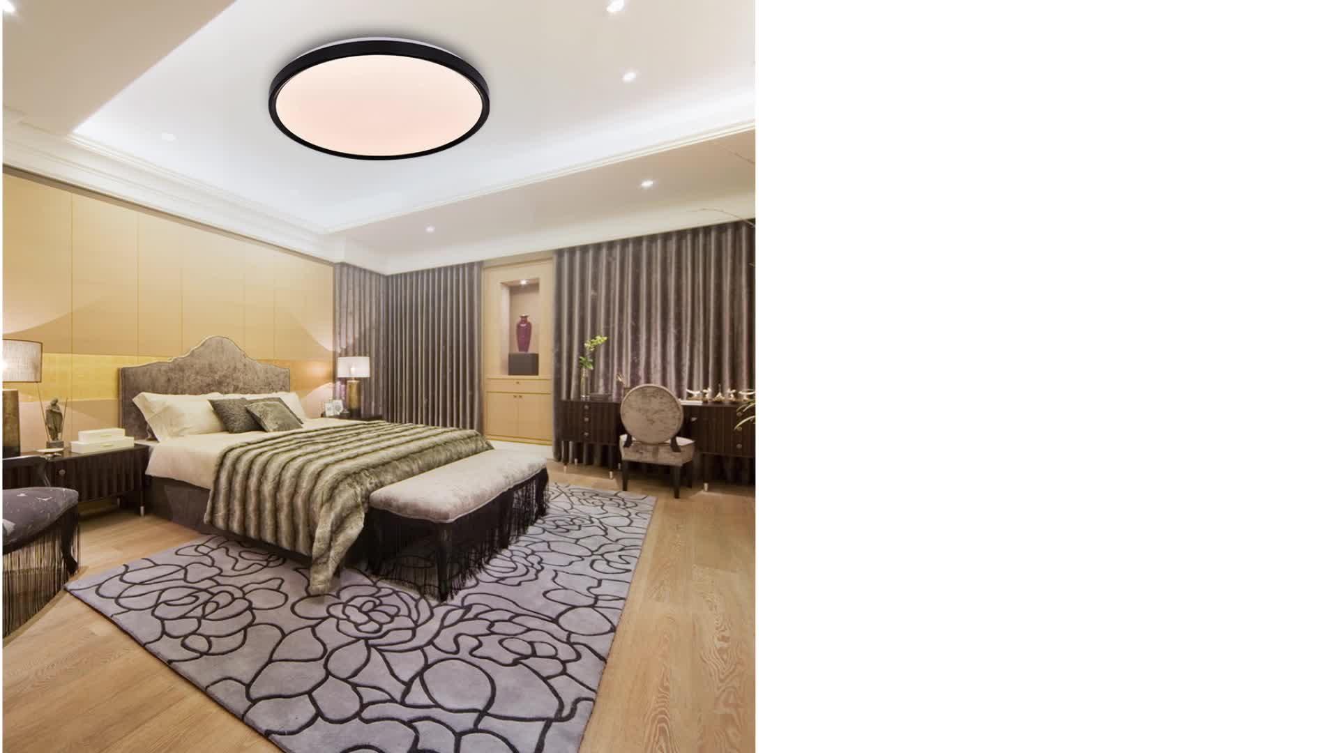 Indoor Residential Ceiling Light Rgb Multiple Colors Ultraslim Ceiling Lamps Infrared Remote Control Livarno luxe for Bedroom