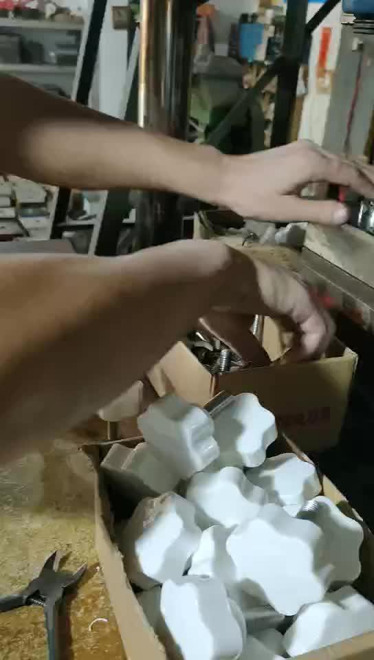 订制非标32#六角梅花形PP|ABS|尼龙塑料快捷胶头螺丝|胶头螺母