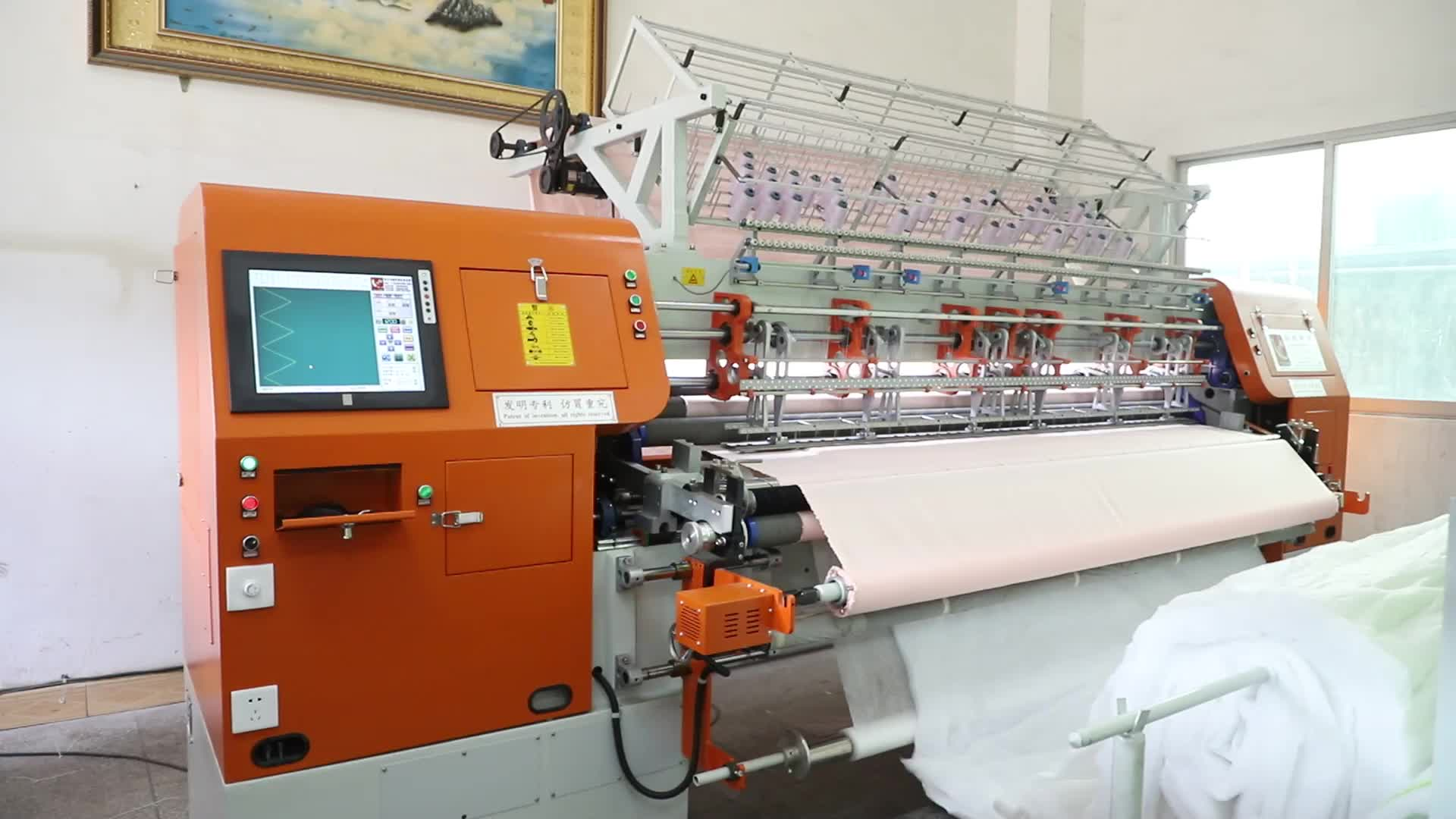 China Multineedle Quilting Máquina Industrielle Para Cachecol