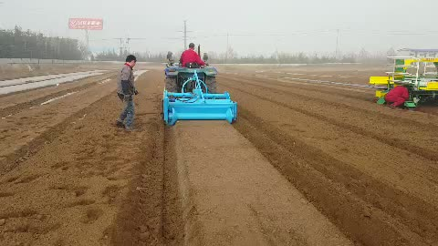 agriculture equipment bed shaping machine with mulcher laying