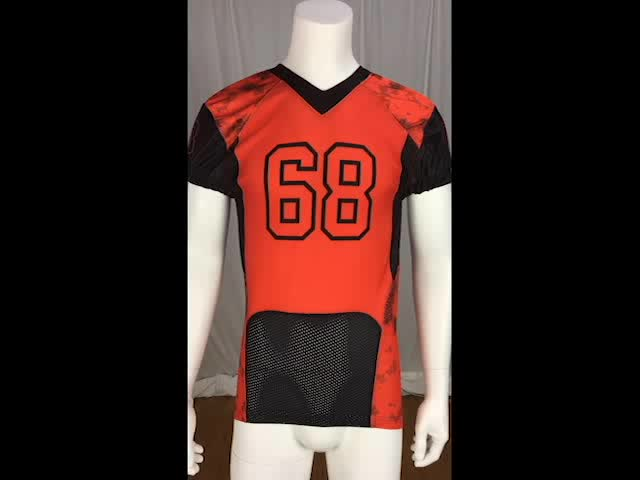 Sublimated cap sleeves youth American football jersey