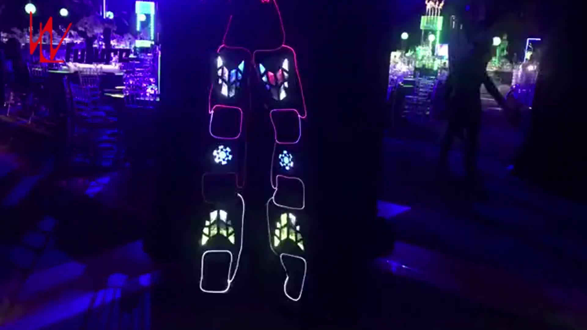 Wireless control stilts LED robot costume for dance stage performance wear,LED costumes ideas