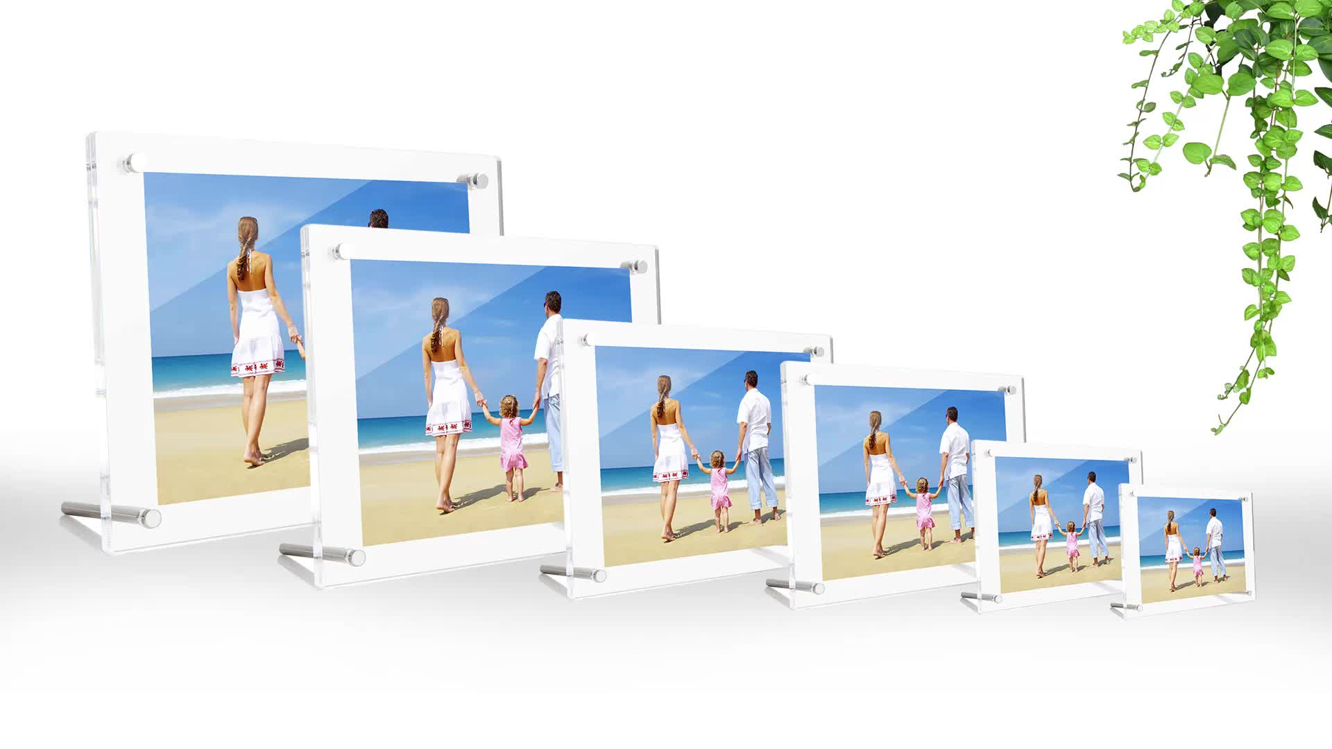 Clear Acrylic Wall Mount Floating Photo Frames