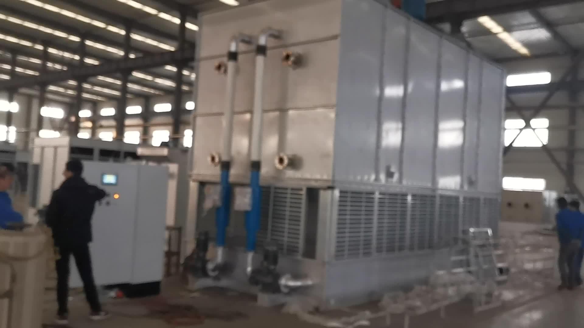 Contra fluxo fechado torre de resfriamento de ar condicionado jaqueta Para A Energia De Refrigeração Industrial
