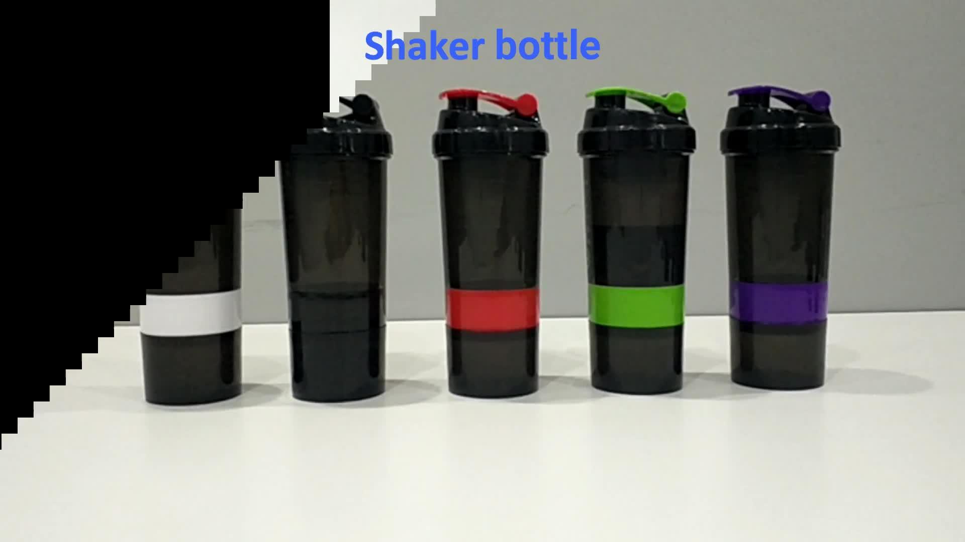 2020 Custom Logo Printed Joy Sports Gym Protein Shaker Bottle