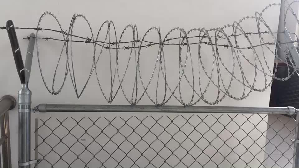 Galvanized Chain Link Fence used in high security