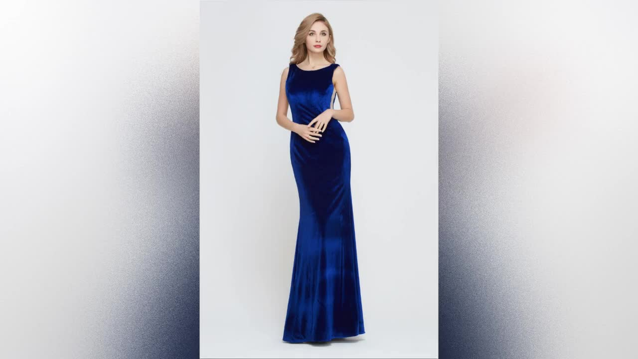2021 all color tea length  New long  Evening Formal Party  Prom Gown wedding party  Mermaid Velvet Bridesmaid Dress