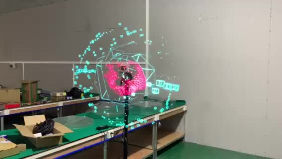 hologram advertising display 3d advertising fan