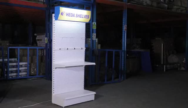 Quality Guarantee Floor Standing Tools Display Rack with Shelves