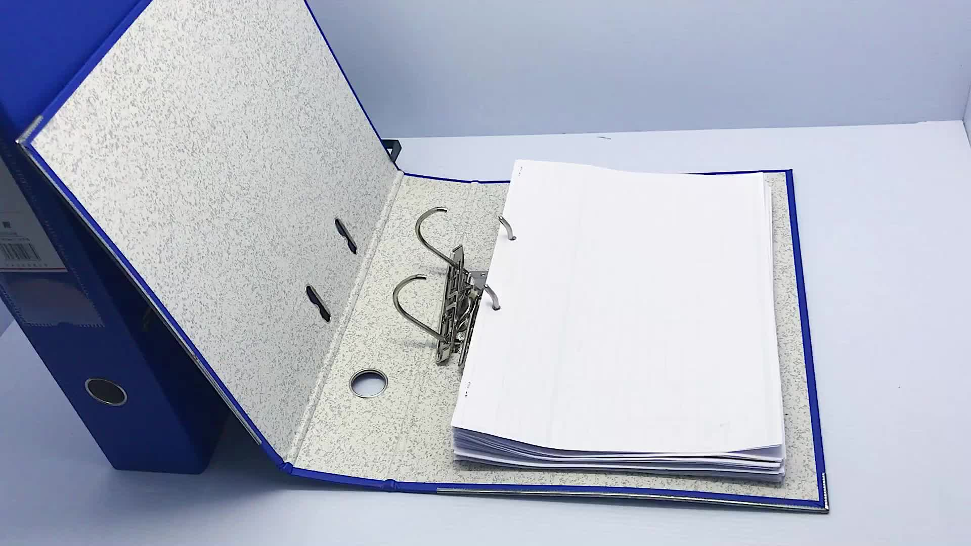 Grosir Kustom Membuat Alat Tulis Kantor Lever Arch File Plastik 3 Ring File Folder