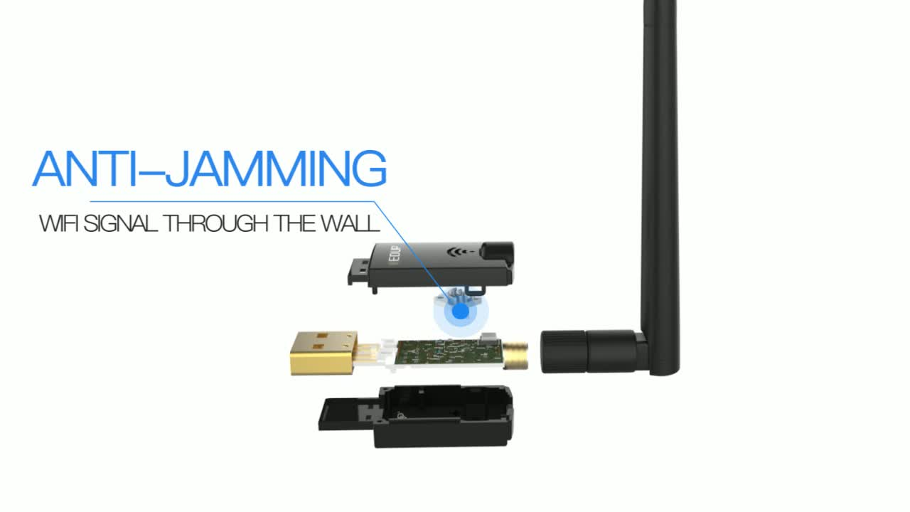 Bluetooths WiFi adapter With 600Mbps Wireless Dongle and Bluetooth 2.1/4.2