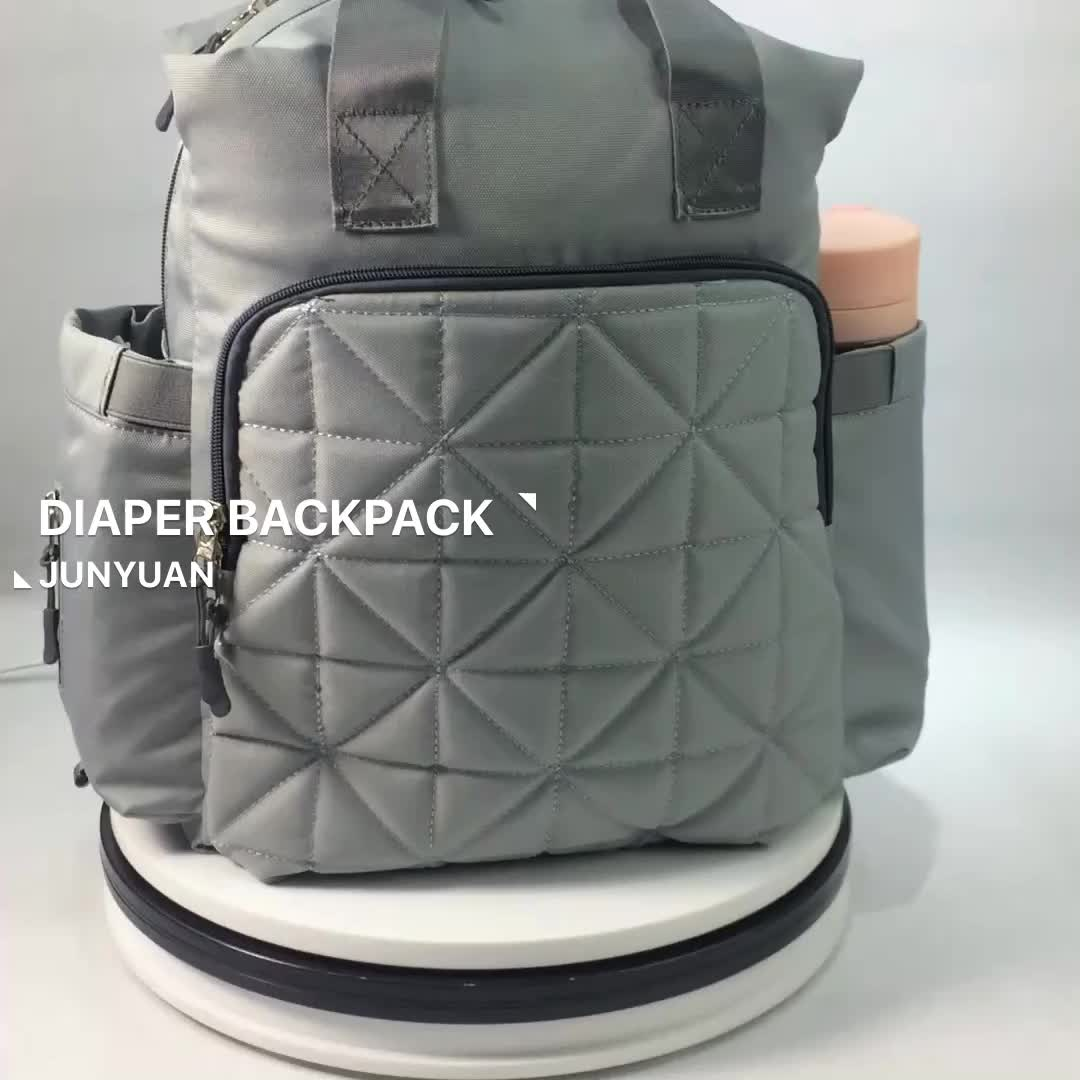 JUNYUAN New Trendy Mummy Diaper Backpack With Computer Compartment