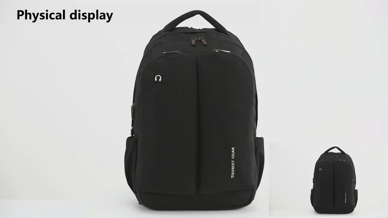 Stylish Men college backpack school bag anti theft waterproof backpackn travelling charging smart usb backpack