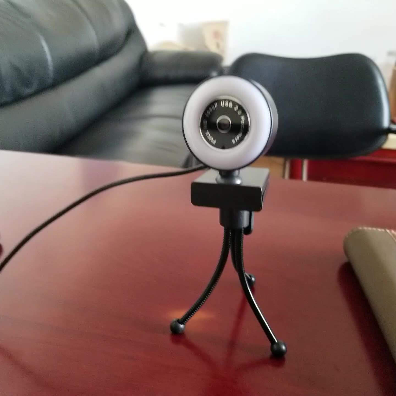 Webcam HD 2K avec Autofocus, caméra professionnelle ajustable, compatible Google voice, vente en gros