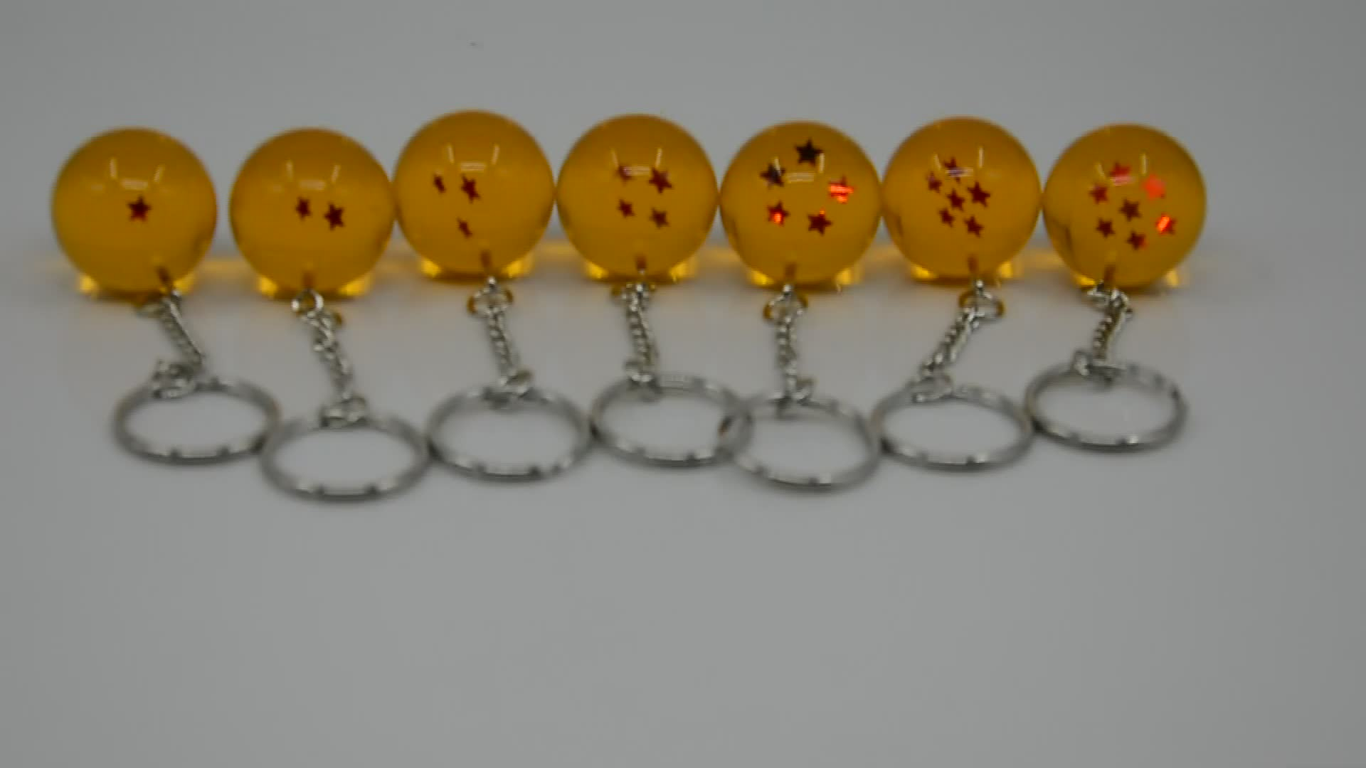 Acrylic Ball Keyring 7 Star Dragon Ball Keychain Factory
