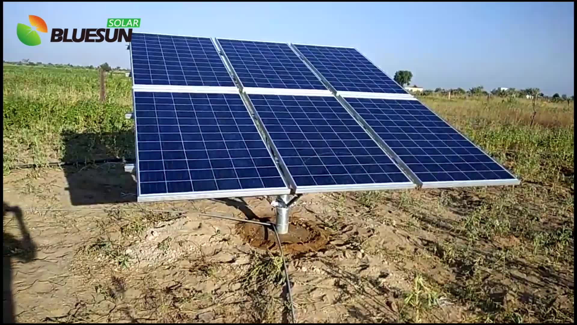 BLUESUN solar powered water pump 3 inches 4hp agriculture brushless high lift solar water dc solar submersible pump