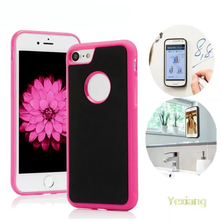 TPU PC Nano suction cover adsorption technology anti gravity mobile phone case for iphone se