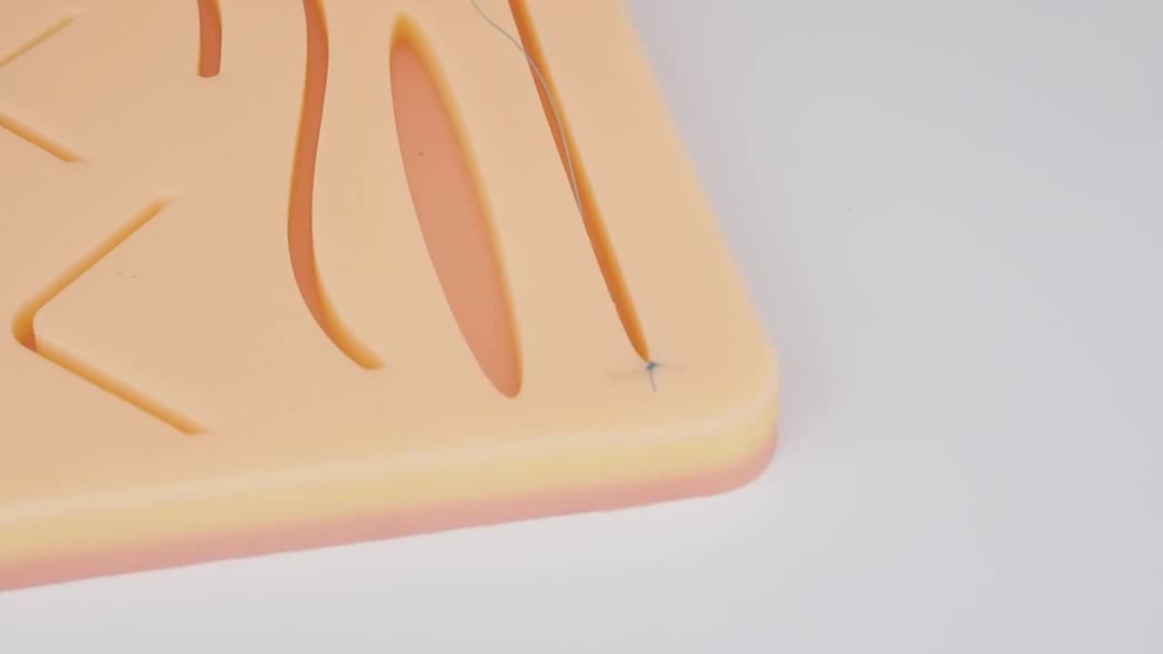 Customized Large 3-Layer Suture Pad With Wounds For Practicing Suturing