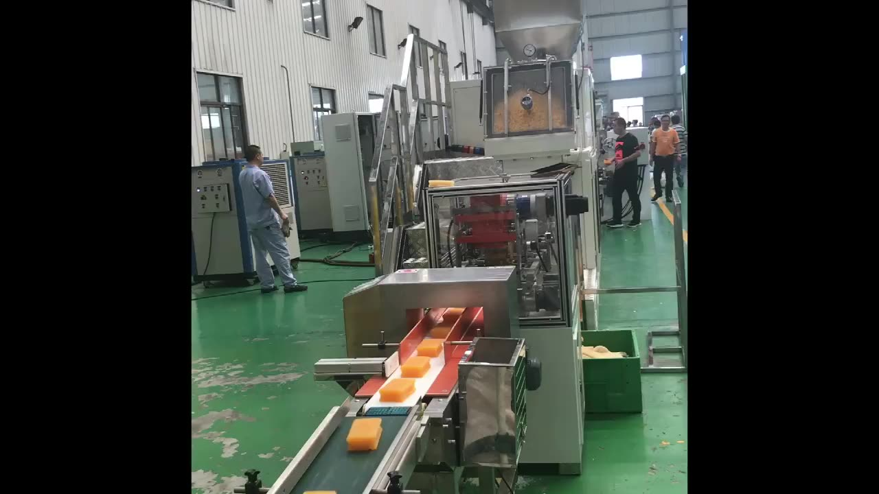 Automatic solid laundry bar soap making machine from soap noodles