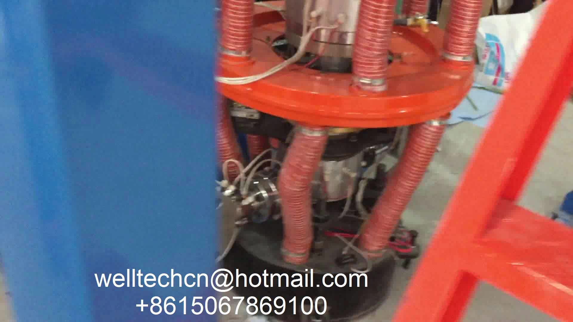 Double Extruders ABA Three-layer Co-extrusion LDPE, HDPE, LLDPE Biodegradable Plastic Film Blowing Machine Price