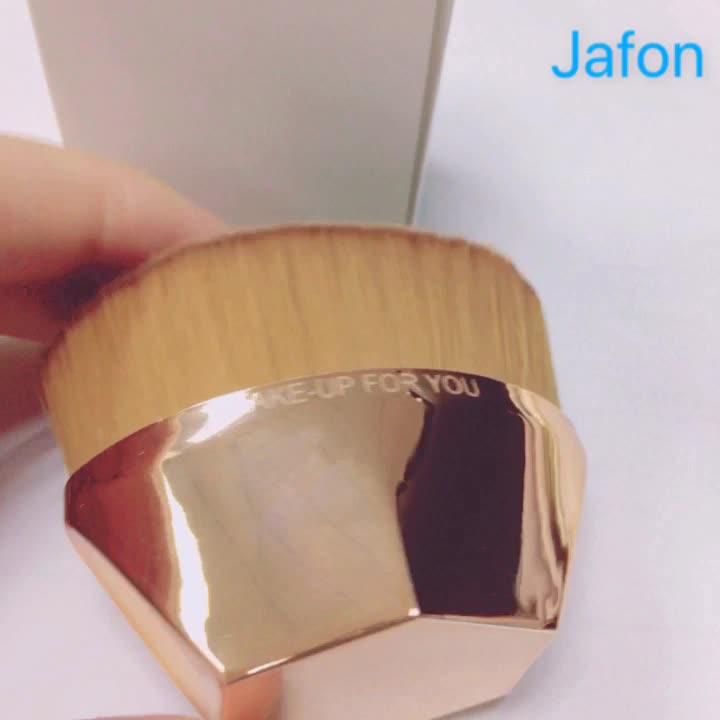 New arrival rose gold hexagon handle multifunctional foundation brush