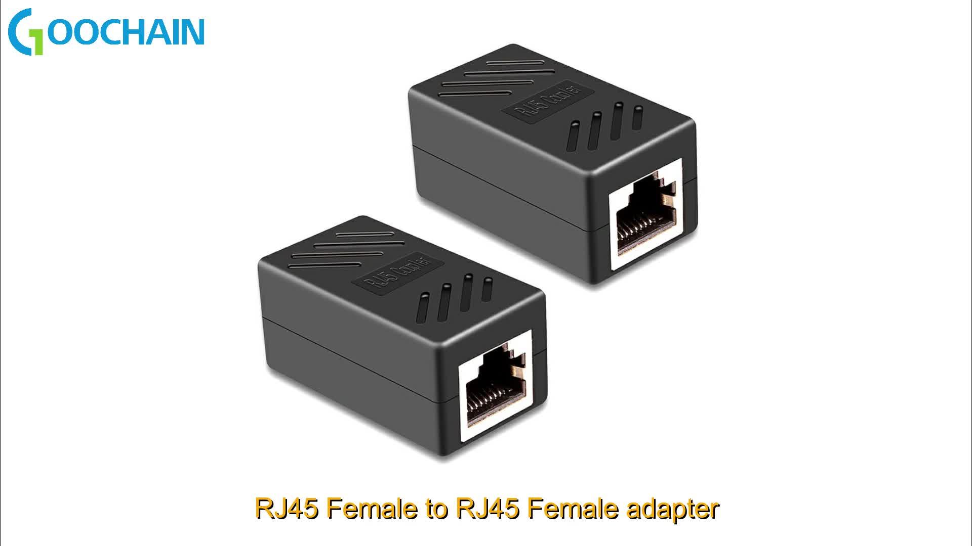 RJ45 8P8C 1 Maschio a 2 Femmina Y Splitter Lan di Estensione di rete Ethernet Cavo adattatore Compatibile con Cat5, cat5e, Cat6, Cat7