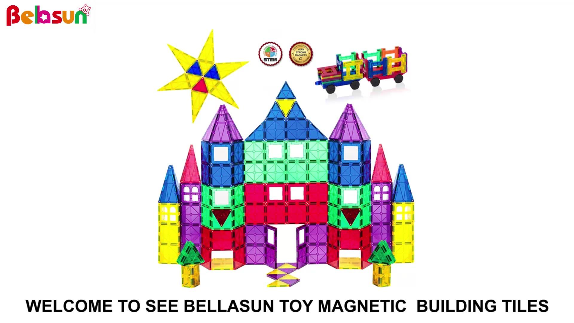ที่กำหนดเองAmazonร้อนขายแม่เหล็กบล็อกต่ำMOQก้านของเล่นก่อสร้างของเล่นอาคารบล็อก